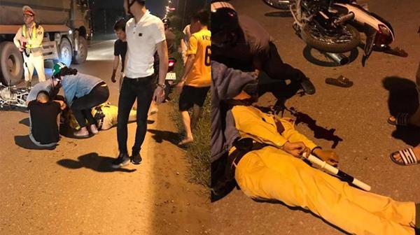 Thiếu tá CSGT bị tông gục khi đang giữ xe vi phạm
