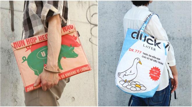 Túi xách cám con cò được bán với giá 800.000 đồng ở Nhật
