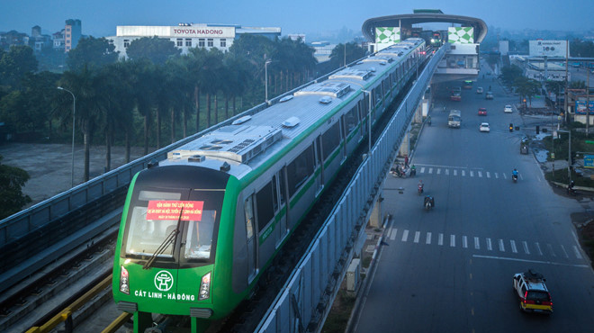 Đường sắt Cát Linh - Hà Đông khai thác thương mại vào tháng 11