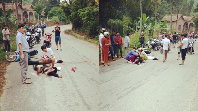 Chồng bị ô tô cán tử vong, vợ nguy kịch sau khi đâm phải… chó