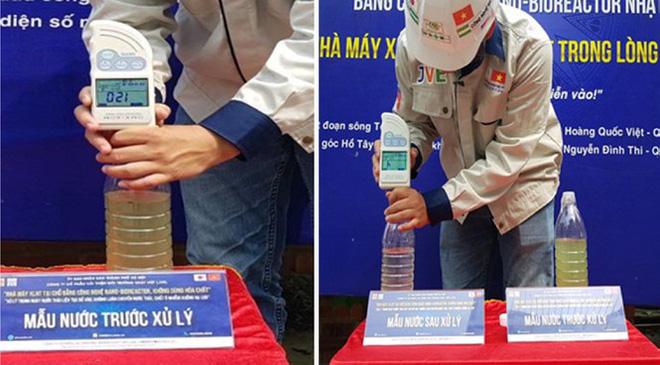 Công bố hiệu quả làm sạch sông Tô Lịch và Hồ Tây bằng công nghệ Nhật