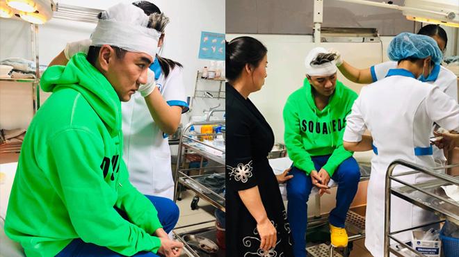 Đàm Vĩnh Hưng chảy máu đầu vì tai nạn sân khấu
