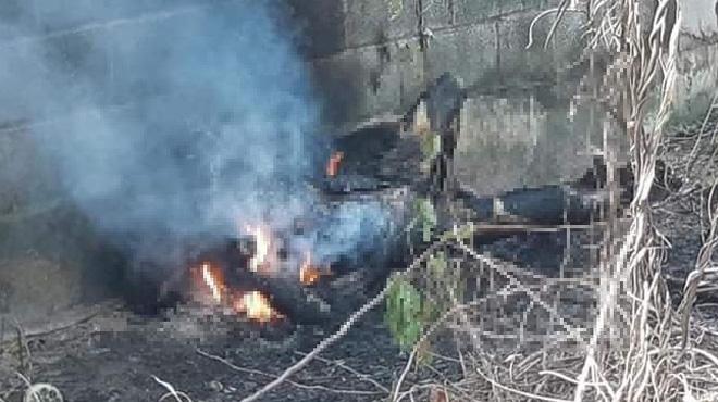 Thi thể cháy đen trong nghĩa trang ở TP.HCM